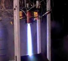 The test fire of an advanced swirl injector conceot for two phase flow of LOX/LCH4 propellants.